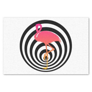Beautiful flamingo in circles tissue paper