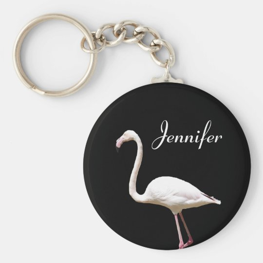 Beautiful Flamingo - Personalised Name Keychain