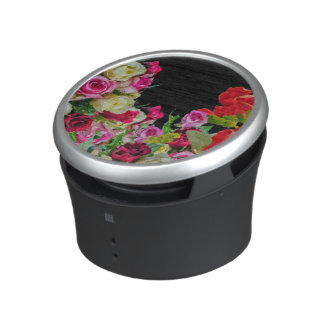 Beautiful Floral Abstract Black Bluetooth Speaker