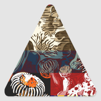 Beautiful Floral Abstract Triangle Sticker