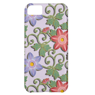 Beautiful floral arabesque Clematis iPhone 5C Cover