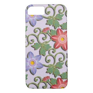 Beautiful floral arabesque Clematis iPhone 7 Case