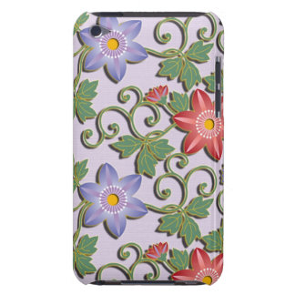 Beautiful floral arabesque Clematis iPod Touch Case