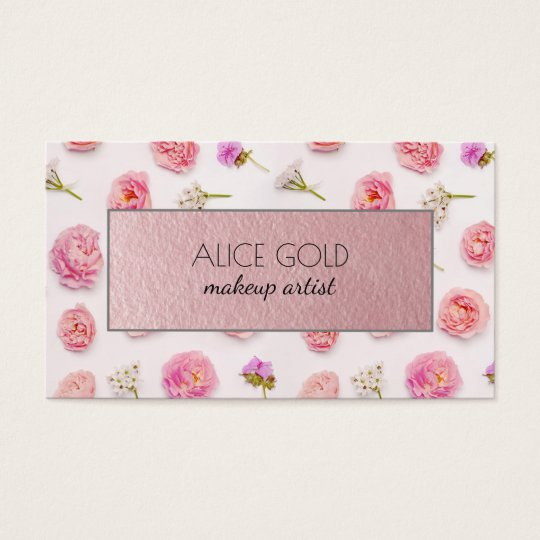 Beautiful floral arrangement business card