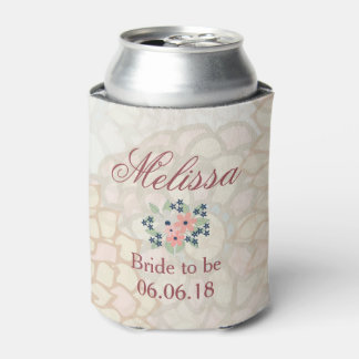 Beautiful Floral art bridal shower Can Cooler