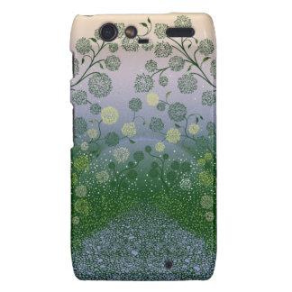 Beautiful Floral art design Droid RAZR Cases