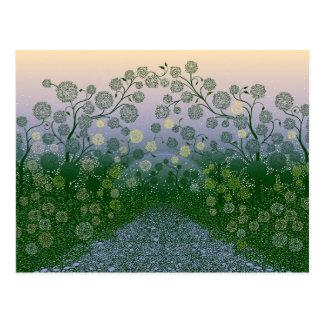 Beautiful Floral art design Postcard
