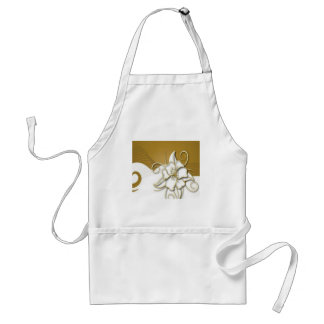 Beautiful floral background design aprons