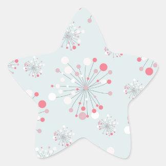 beautiful floral background star sticker