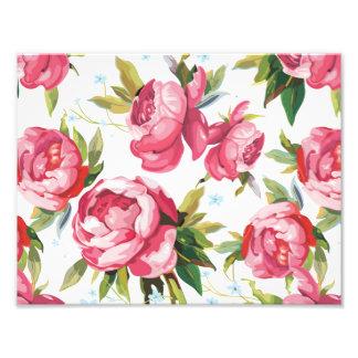 Beautiful Floral Bouquet  Pink Flowers Patterns Art Photo