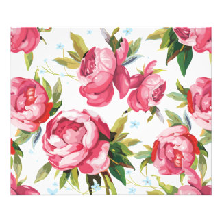 Beautiful Floral Bouquet  Pink Flowers Patterns Photograph