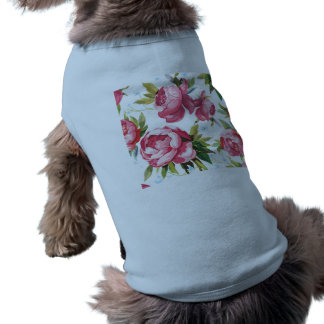 Beautiful Floral Bouquet  Pink Flowers Patterns Sleeveless Dog Shirt