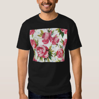 Beautiful Floral Bouquet  Pink Flowers Patterns Tshirt