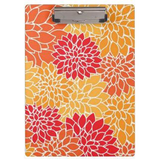 Beautiful Floral Clip Board
