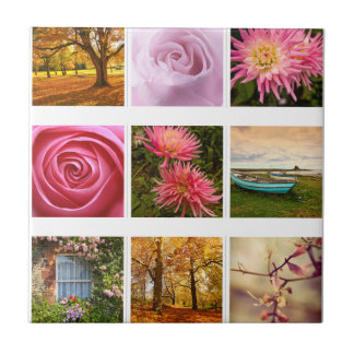Beautiful Floral composition Small Square Tile