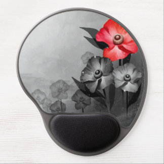 Beautiful floral design gel mouse pad