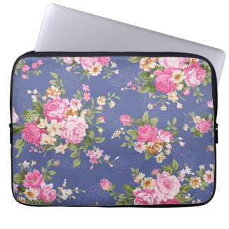 Beautiful floral design laptop computer sleeve