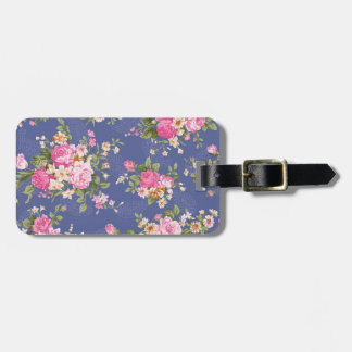 Beautiful floral design luggage tag