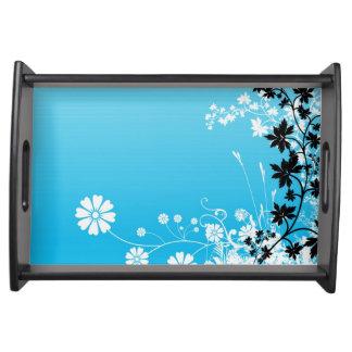 Beautiful floral design serving platter