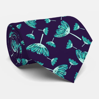 Beautiful floral illustrated tie