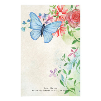 Beautiful Floral Nature Stationery