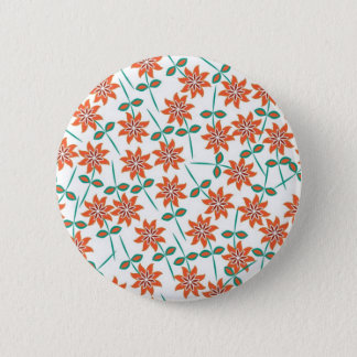 Beautiful Floral Pattern 6 Cm Round Badge