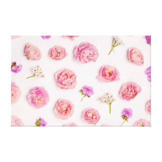 Beautiful floral pattern canvas print