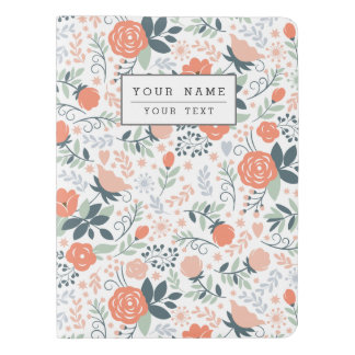 Beautiful Floral Pattern Girly Extra Large Moleskine Notebook