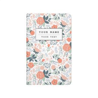 Beautiful Floral Pattern Girly Journal
