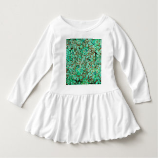 Beautiful floral pattern in green tee shirts