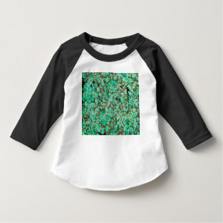 Beautiful floral pattern in green t-shirt