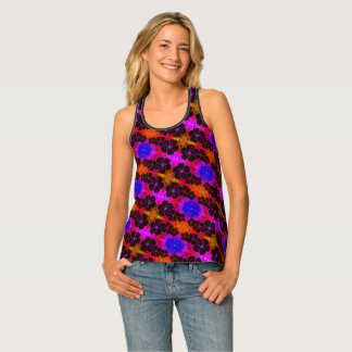Beautiful floral pattern tank top