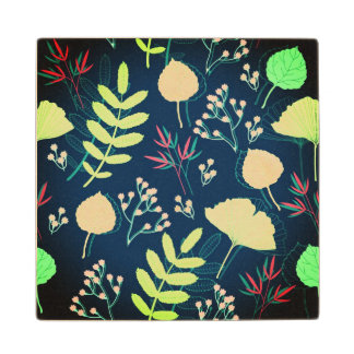 Beautiful floral textured wood coasters
