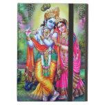 Beautiful Floral Vintage Krishna Radha