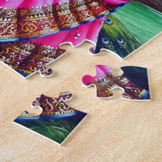 Beautiful Floral Vintage Krishna Radha Puzzles