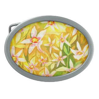 Beautiful Floral Watercolor Belt Buckle
