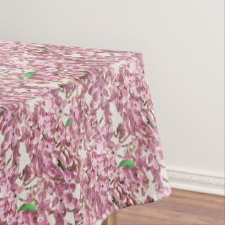 Beautiful floral watercolor dining tablecloth