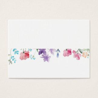 Beautiful Floral Watercolor Wedding DIY Place Card