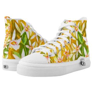 Beautiful Floral Watercolour High Top Sneakers