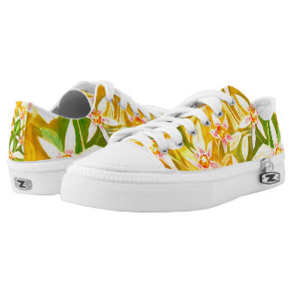 Beautiful Floral Watercolour Low Top Sneakers