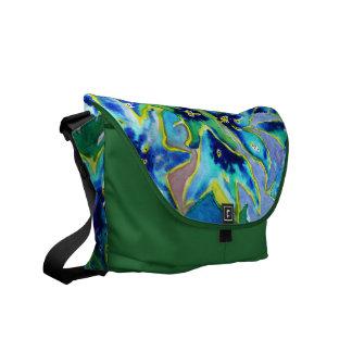 Beautiful Floral Watercolour Messenger Bag