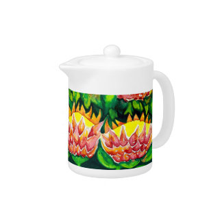 Beautiful Floral Watercolour Teapot