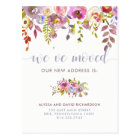 Beautiful Floral | We've Moved | Change of Address Postcard