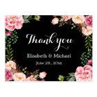 Beautiful Floral Wreath Wrap - Thank You Postcard