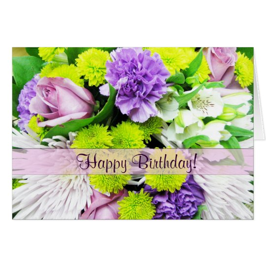 Beautiful Florals Greetings Card