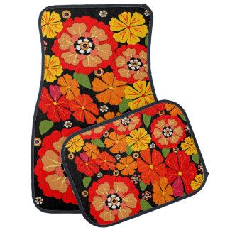 Beautiful flores car mat