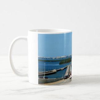 Beautiful Florida view from Sunshine Skyway bridge Basic White Mug