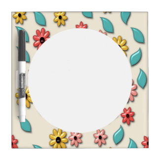 Beautiful Flower Colorful Pattern Dry-Erase Board