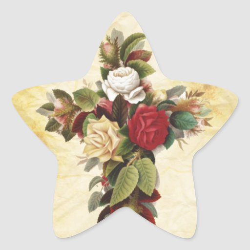 beautiful flower cross star stickers