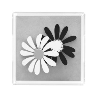 Beautiful Flower Decoration Black and White